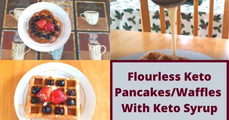 How To Make Gluten Free Keto Pancakes and Syrup Without Flour
