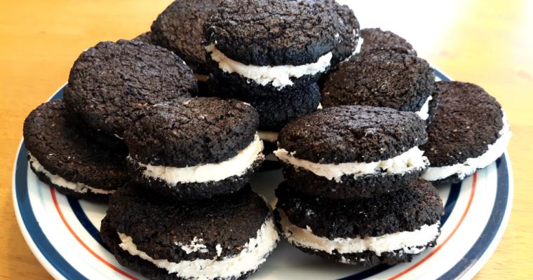 Gluten Free Keto Friendly Oreo Cookie Substitute