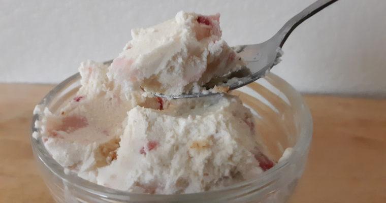 Keto Strawberry Cheesecake Ice Cream No Machine Needed