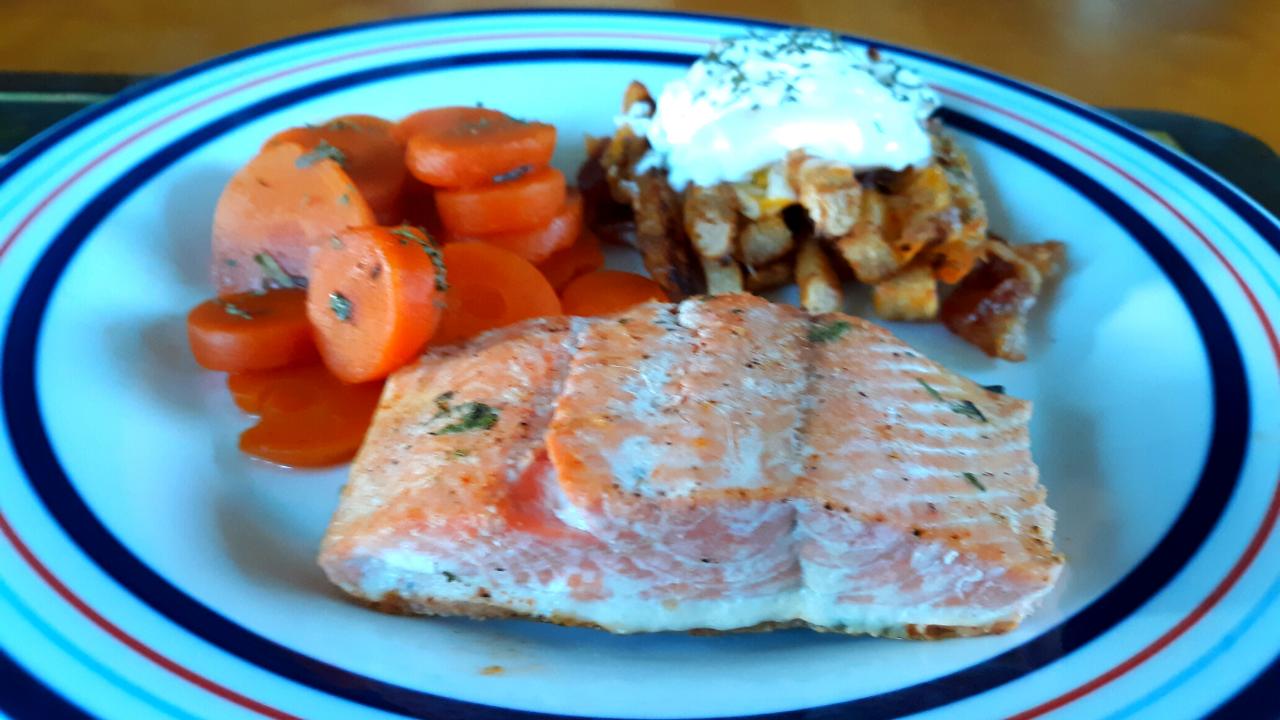 Gluten Free Keto Quick Baked Salmon