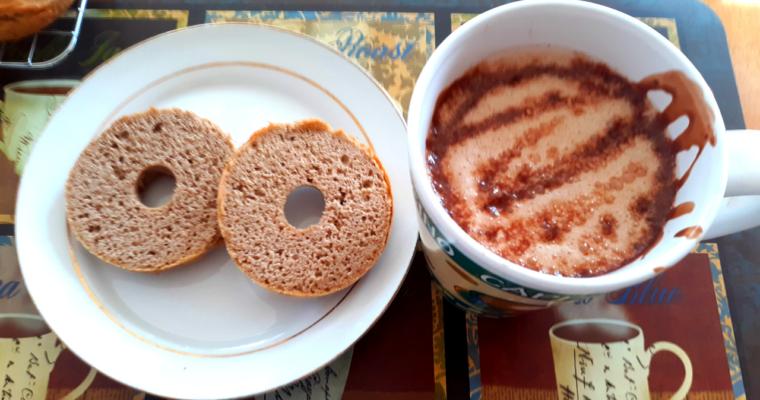 Keto Coconut Flour Bagels With Keto Mocha Latte