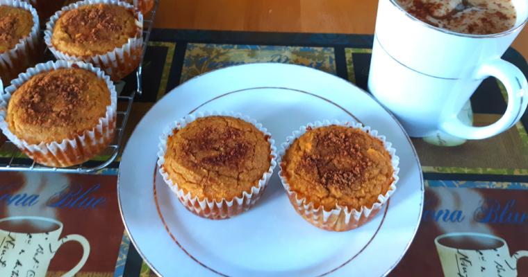 Keto Coconut Flour Pumpkin Spice Muffins