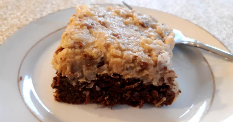 Easy Keto Coconut Flour German Chocolate Cake