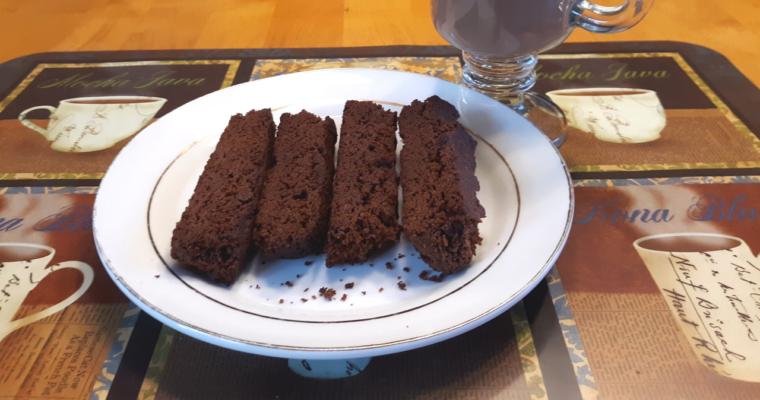 Easy Keto Chocolate Coconut Flour Biscotti