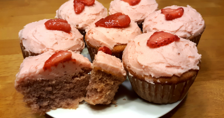 Keto Coconut Flour Strawberry Cupcakes