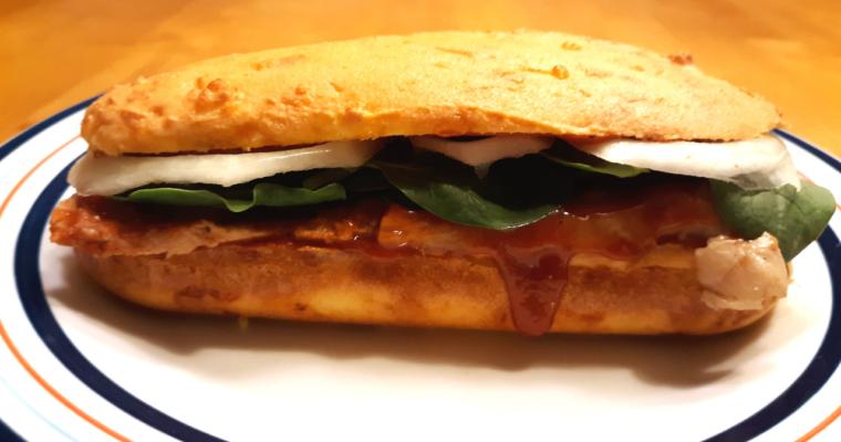 Keto Coconut Flour Sub Sandwich Bread