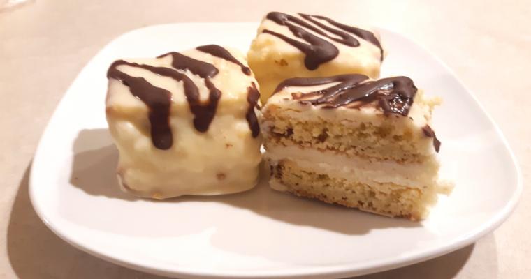 Easy Keto Coconut Flour Zebra Cakes