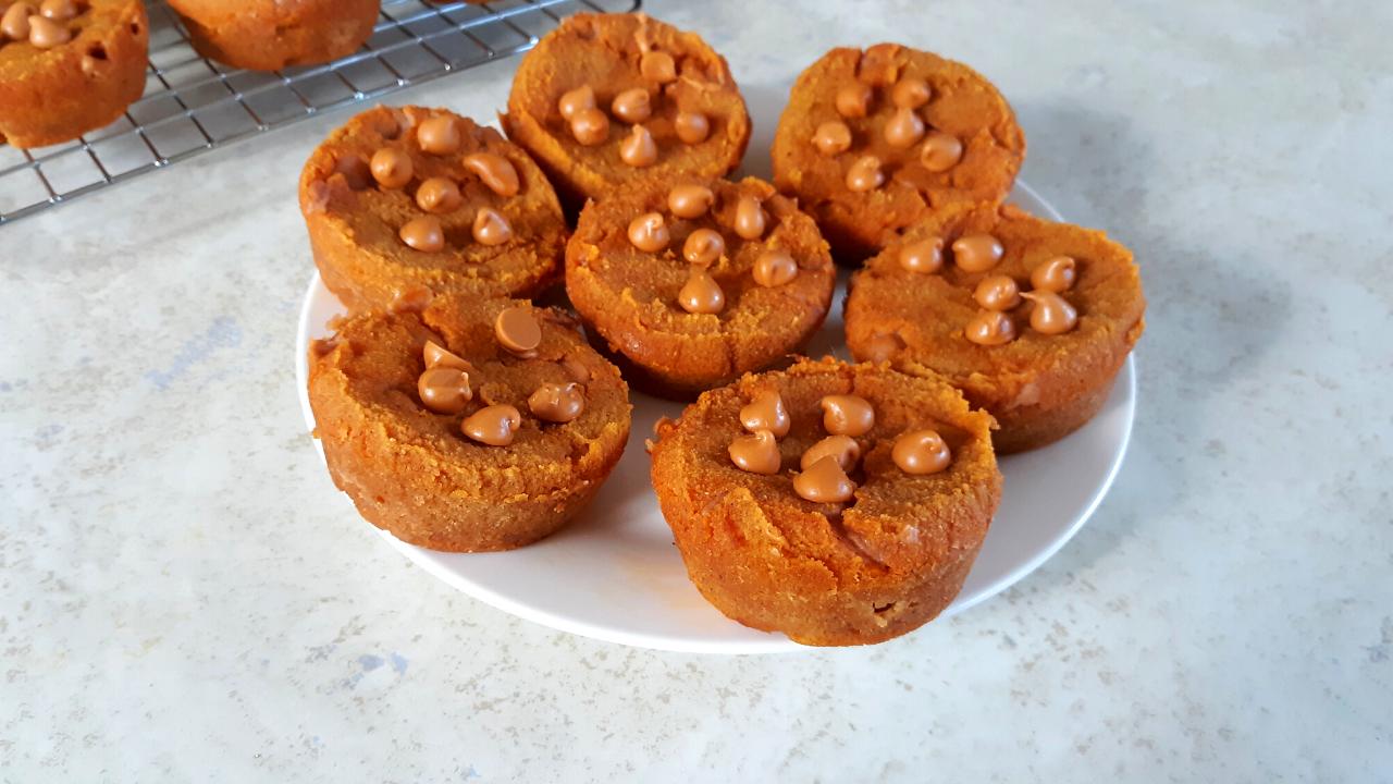 Keto Butterscotch Pumpkin Muffins